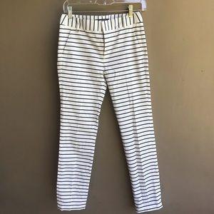 Zara White Black Stripe Trouser Pants NWOT